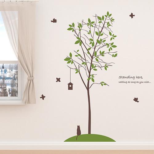 나무자전거 그래픽스티커[kz] 살랑나무, 나무자전거