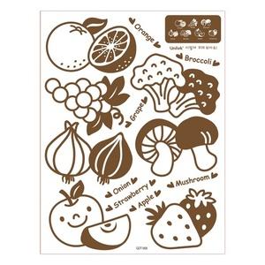 나무자전거 포인트 데코스티커 uni [GDT-908]야채와 과일, 나무자전거