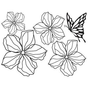 나무자전거 그래픽스티커GPS-018(꽃송이2-1), 나무자전거