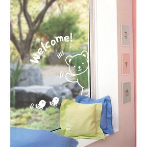 나무자전거 그래픽스티커(SGWST-26) 하이~!곰돌이, 나무자전거