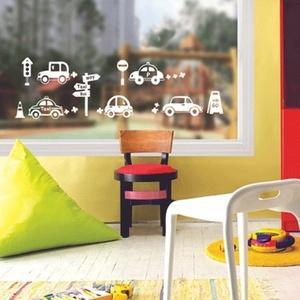 나무자전거 그래픽스티커(SGWST-32 White) 띠띠빵빵 자동차 화이트, 나무자전거