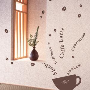 [나무자전거]그래픽스티커[kz] [레터링]커피를따라서_205, 나무자전거