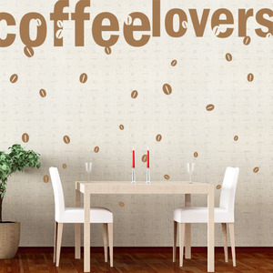 [나무자전거]그래픽스티커[kz] [레터링]커피사랑_206, 나무자전거