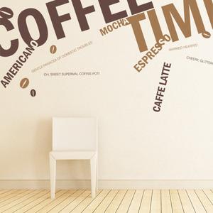 [나무자전거]그래픽스티커[kz] [레터링]커피타임_208, 나무자전거
