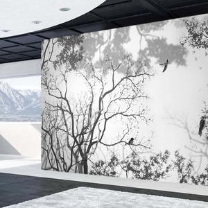 [나무자전거]뮤럴벽지 [ALL] 흐르는숲, 나무자전거