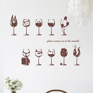 나무자전거 그래픽스티커[kz] 와인잔 [030], 나무자전거
