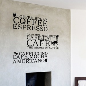 [나무자전거] 그래픽스티커 [ahu] 커피타이포L, 나무자전거