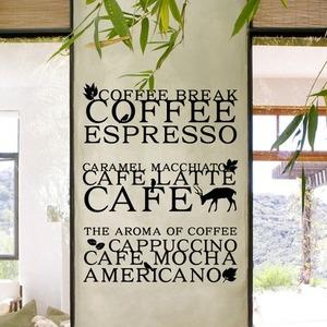 [나무자전거] 그래픽스티커 [ahu] 커피타이포M, 나무자전거