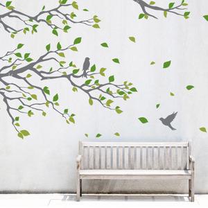 나무자전거 초대형그래픽스티커 [ahu] 샐리가든(salley's garden)/ 카페꾸미기/대형스티커 GBS-G003, 나무자전거