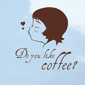 [나무자전거]그래픽스티커[ahu] 두 유 라이크 커피? Do you like coffee? GBS-G401, 나무자전거
