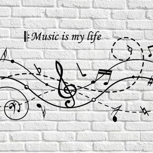 나무자전거 그래픽스티커 (LU-M114) 음악은 내 인생, 나무자전거