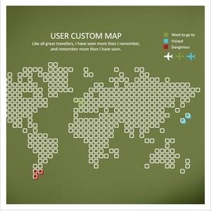 나무자전거 그래픽스티커 (LU-B58)세계지도-CUSTOM MAP, 나무자전거