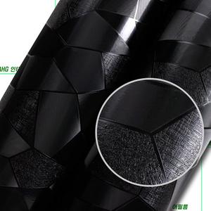 나무자전거 인테리어필름 (IT955) 럭셔리패턴 블랙