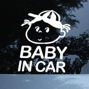 나무자전거 그래픽스티커[mk] Baby in car_mk05, 나무자전거