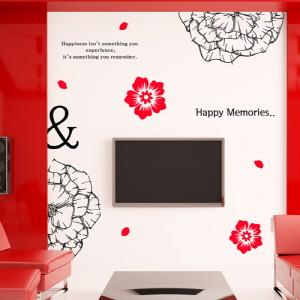 나무자전거 그래픽스티커[GG] im371-붉은꽃의백일홍(투톤), 나무자전거