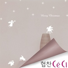 [나무자전거]그래픽스티커[kz] 눈꽃 천사와눈송이_099, 나무자전거