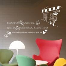 나무자전거 그래픽스티커(LGWST-01 white) 커피앤 도넛 -화이트, 나무자전거