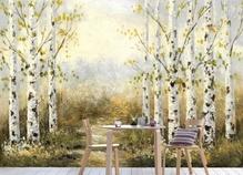 [나무자전거]뮤럴아트벽지[min] 5FA29 자작나무 길/풍경/배경, 나무자전거