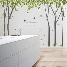 나무자전거  그래픽스티커 [GG]  ph155-나뭇잎이흩날리는자작나무숲(초대형), 나무자전거
